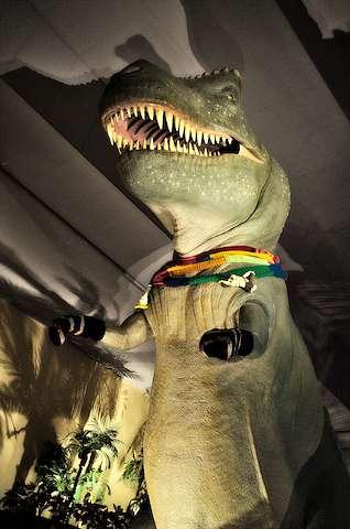 T-Rex in a scarf