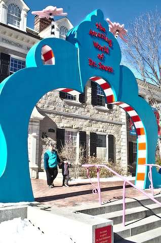 Entrance to Dr. Seuss museum