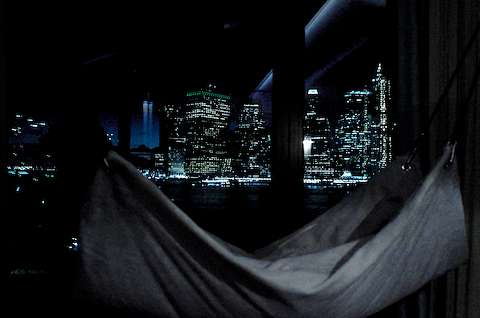 Hammock and Manhattan skyline