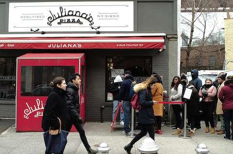 line of people outside Juliana's