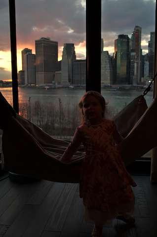 Clara in hammock