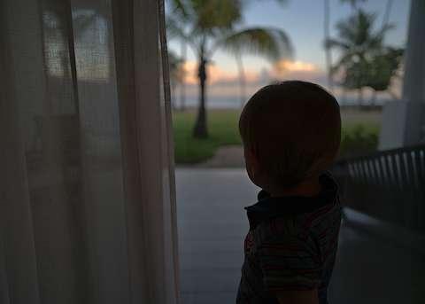 Watching sunrise