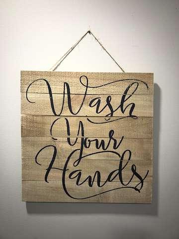 Wash hands!